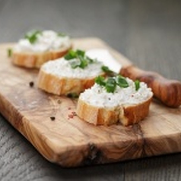 Chef Ali's Pear, Olive and Cheese Crostini