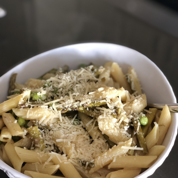 Asparagus with Peas and Penne