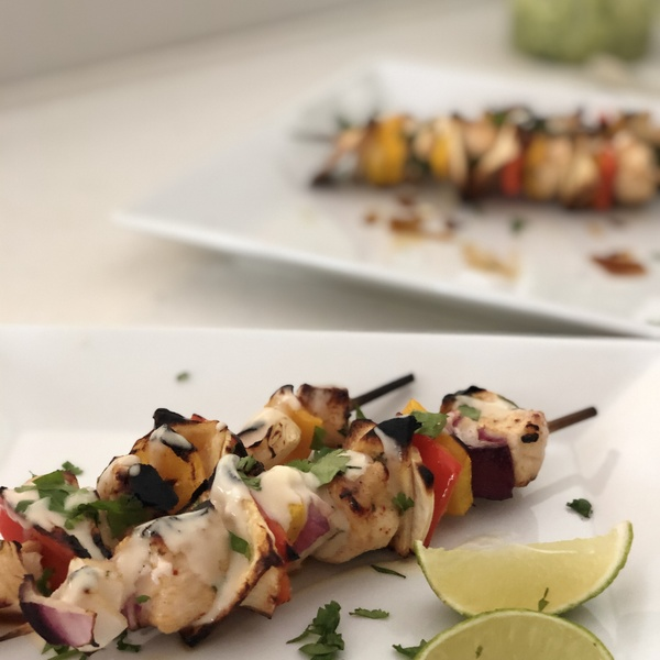 Chicken Fajita Skewers