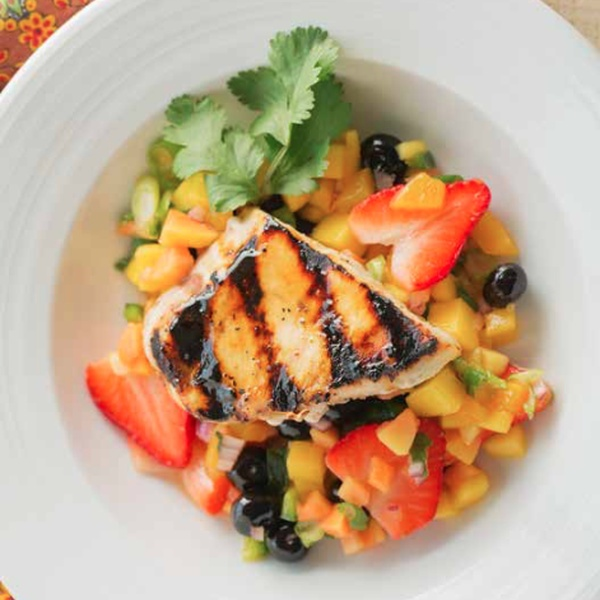 Grilled Fish with Fresh Fruit Salsa