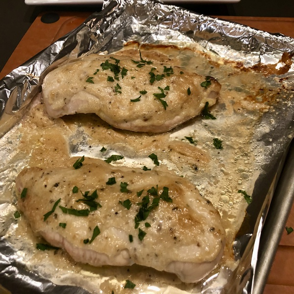 Baked Garlic Mustard Chicken