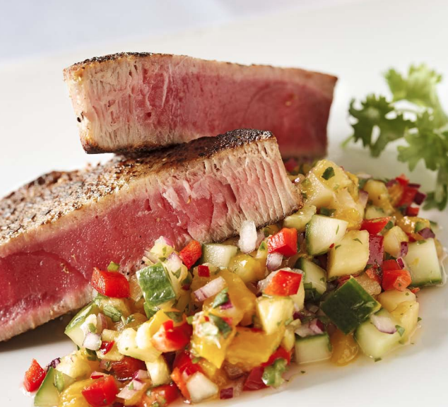 Seared Tuna with Pineapple Mango Salsa